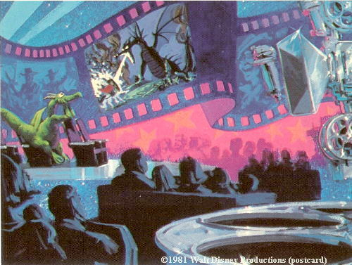 Journey Into Imagination Epcot Pre-opening Postcard