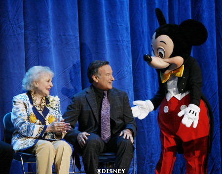Betty White, Robin Williams and Mickey Mouse