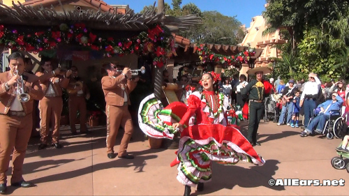 Epcot's Holidays Around the World Mexico's Mariachis and Dancers