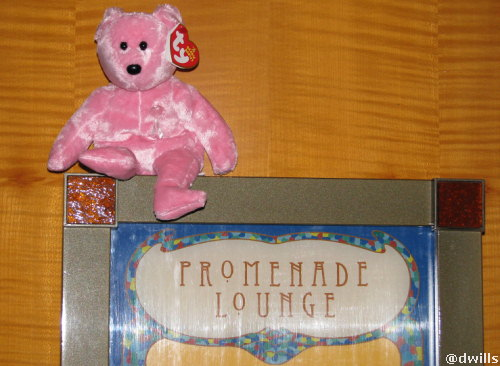Pink Bear heads to the Promenade Lounge