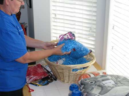 Linda Creating the Disney Cruise Line Basket