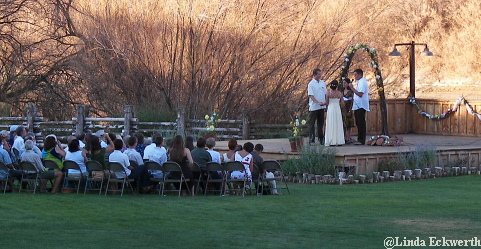 Sunset Wedding at Red Cliffs Lodge, Moab UT