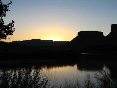 Sunset at the Red Cliffs Lodge
