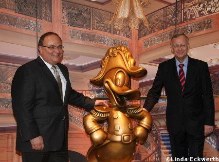 Jay Rassulo and Meyer Werft Shipyard Managing Partner Bernard Meyer