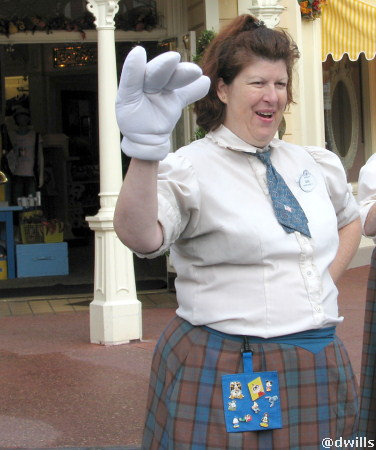 Cast member on Main Street