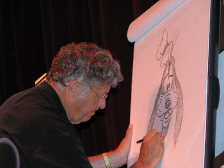 Ducky Williams drawing Goofy