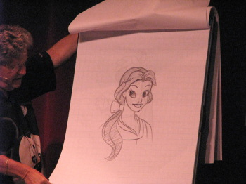 Ducky Williams drawing Belle