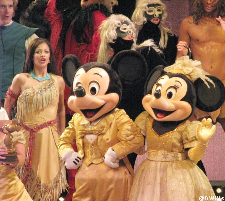 Mickey and Minnie in Golden Mickeys