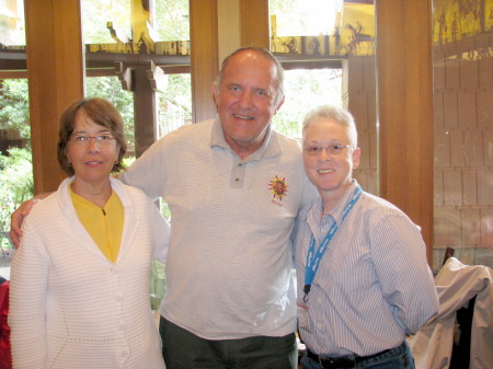 Walt, Liz and Deb at Storyteller's Cafe in Disneyland's Grand Californian