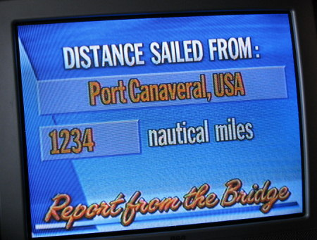 Miles from Port Canaveral in Florida