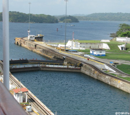 Gatun Locks at Panama Canal