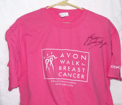 Patrick Dempsey Autographed Avon Walk for Breast Cancer TShirt