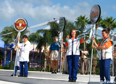 Parade of Future World Attraction Representatives