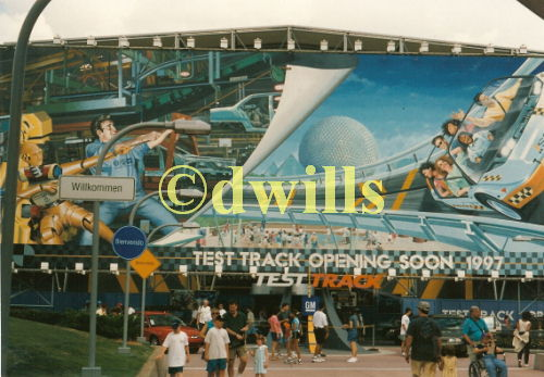 Test Track Pre-Opening Sign