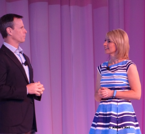 Tom Staggs and Samantha Brown