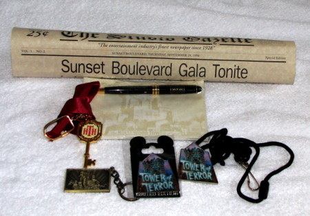 Tower of Terror Imagineer, Press Event and LE Items