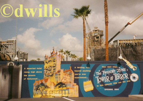Tower of Terror Construction Photo #3