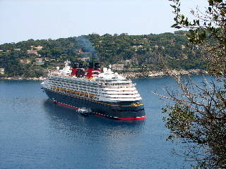 Disney Magic in the harbour