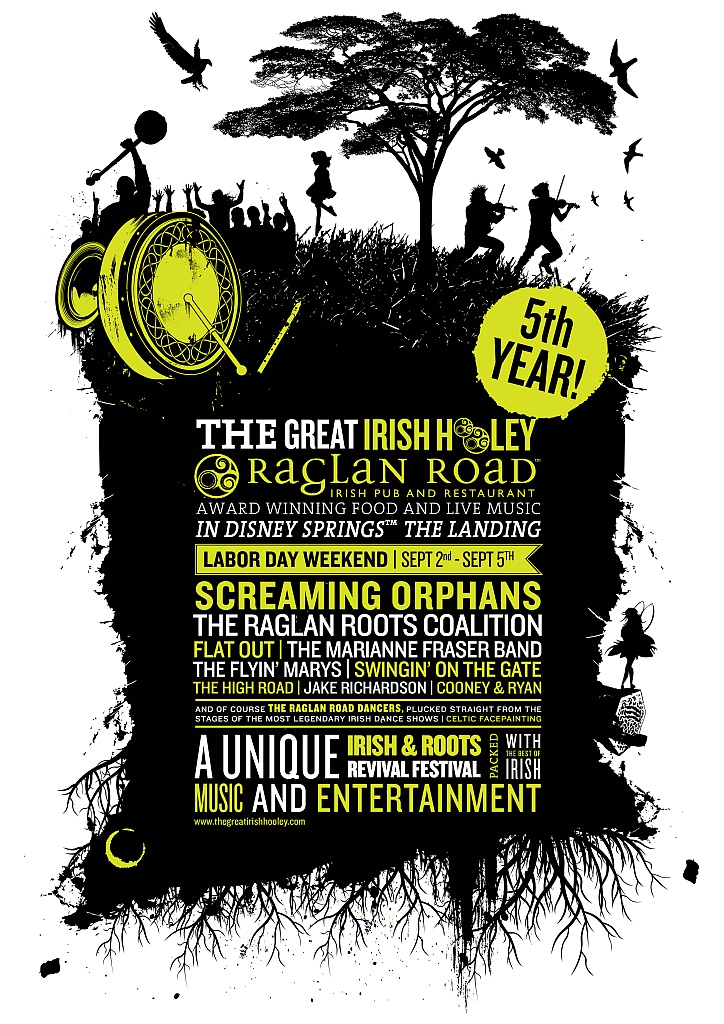 5th Annual Great Irish Hooley at Raglan Road Labor Day Weekend!