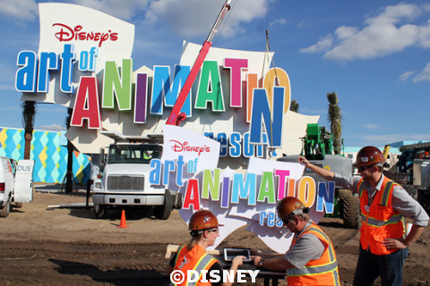 Art of Animation Resort Marquee