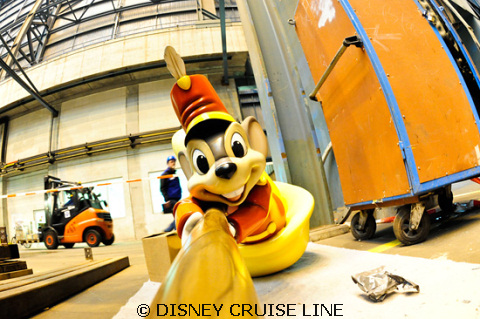 Timothy Mouse Adorns the Disney Fantasy Stern