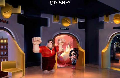 Wreck-it Ralph and Vanellope in the Parks