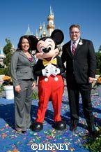 Danielle DuBois and Quinn Shurian  Disneyland Ambassadors