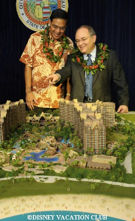 Jay Rasulo and Honolulu Mayor Hannemann