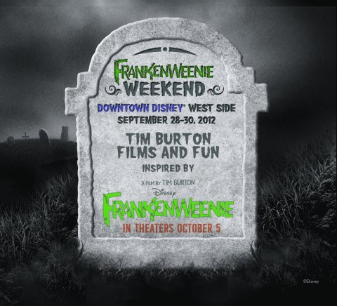 Frankenweenie Weekend Takes Over Downtown Disney Sept 28 30 2012 Allears Net