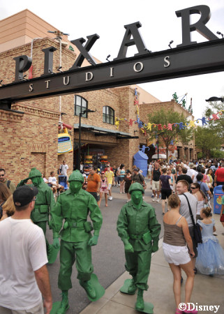 Green Army Men at Pixar Place Disney's Hollywood Studios