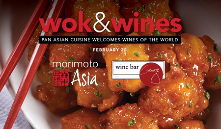 Wok and Wines Dinner at Morimoto Asia Feb. 28
