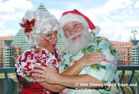 Santa at WDW Swan and Dolphin