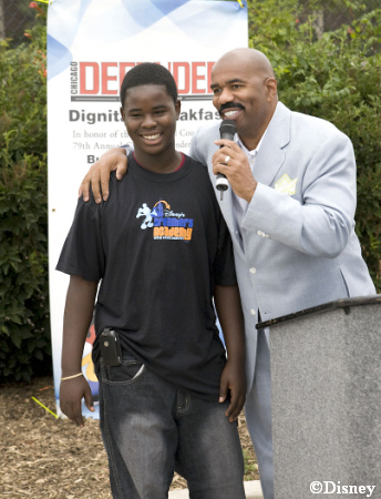 Jacquez Walker and Steve Harvey