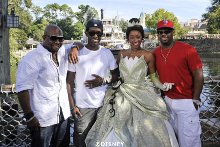 Boys II Men and Princess Tiana