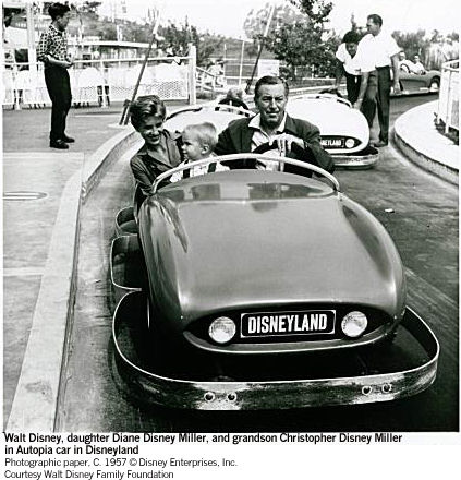 Walt Chris Diane Disneyland Autopia Car