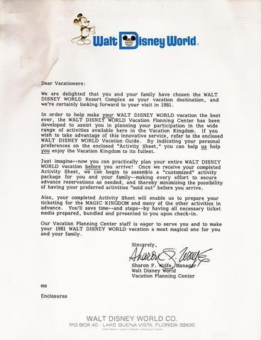 1981 Letter