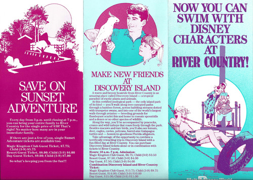 1989 River Country Brochure Front
