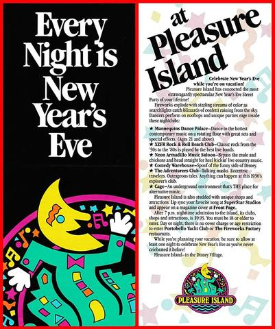 1990 Pleasure Island brochure