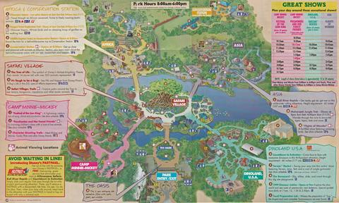 1999 Animal Kingdom Map
