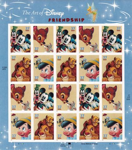 2004 The Art Of Disney Friendship Sheet