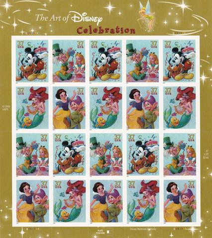 2005 The Art Of Disney Celebration Sheet