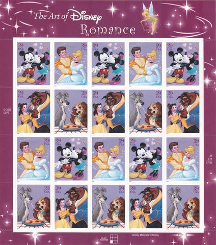 2006 The Art Of Disney Romance Sheet