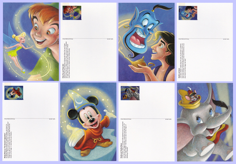 2007 The Art Of Disney Magic Postcards