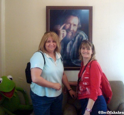 Beci and Michelle with Jim Henson Portrait