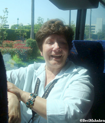 Haydee on the Adventures by Disney bus