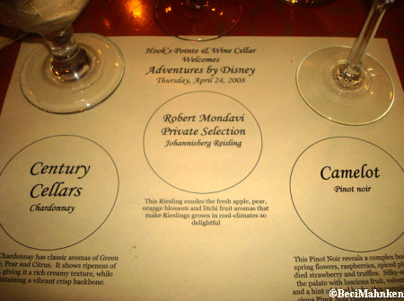 Wine Tasting at Disneyland