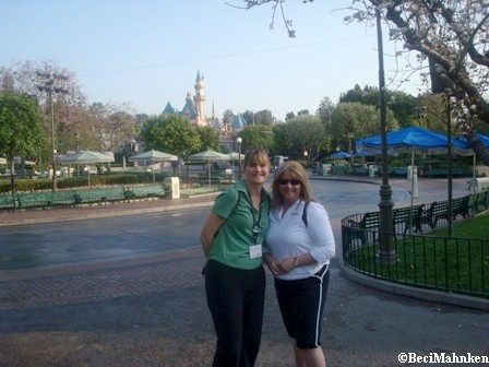 Michelle and Beci in Disneyland