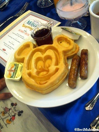 Mickey Waffle at Disney's Soda Fountain and Studio Store