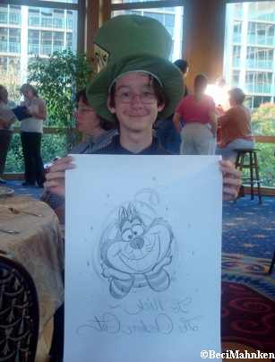 Disney Historian, Stacia Martin Draws the Cheshire Cat for Nick