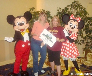 Beci, Michelle, Minnie and Mickey